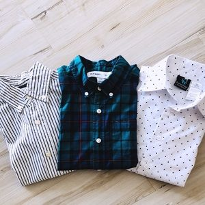 Set of 3 like new button down shirts